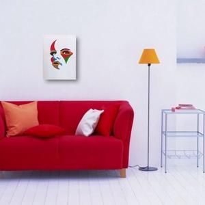 Színes Arc, Otthon & lakás, Dekoráció, Kép, Lakberendezés, Falikép, Képzőművészet, Festmény, Akril, Festészet, Kézzel festett falikép., Meska