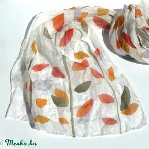 Őszi levelek selyemsál (Andrea85) - Meska.hu