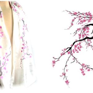Cseresznyevirágzás selyemsál (Andrea85) - Meska.hu