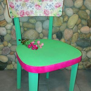 Színes modern szék , Otthon & lakás, Bútor, Szék, fotel, Festészet, Mindenmás, Retro szék modern stílusban felújítva.\n\nSzemélyes átvétel Törökbálinton lehetséges. \n, Meska