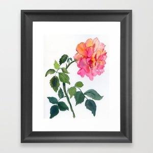 A rózsaszál: eredeti akvarell festmény  - Meska.hu
