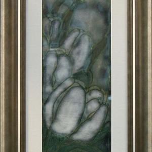 Éjjeli tulipánok, Képzőművészet, Otthon & lakás, Dekoráció, Kép, Lakberendezés, Tűzzománc, Vörösréz lemezre festőzománc és sgraffito technikával készítettem ezt a tűzzománc képet, mely ízlése..., Meska