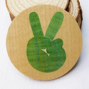 Béke, peace kéz kulcstartó/mágnes (Intarzia), Ékszer, Egyéb, Táska, Divat & Szépség, Kulcstartó, táskadísz, Famegmunkálás, Egyedi fa kulcstartók.\nMinden termékemet 100%-ig kézzel ill. egy szikével készítek. \nEz valóban egy ..., Meska