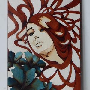 Fantázia portré, Intarzia, Portré, Portré & Karikatúra, Művészet, Famegmunkálás, Egy igazán egyedi ajándékkal szeretnél kedveskedni? Akkor megtaláltad a legmegfelelőbb ajándékot!\n\nM..., Meska
