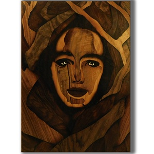 A természet arca Intarzia, Otthon & lakás, Dekoráció, Képzőművészet, Famegmunkálás, Egy igazán egyedi ajándékkal szeretnél kedveskedni? Akkor megtaláltad a legmegfelelőbb ajándékot!\n\nM..., Meska