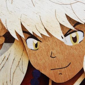 Inuyasha anime intarzia, Otthon & lakás, Dekoráció, Képzőművészet, Famegmunkálás, Szereted az animét? Bármelyik karaktert elkészítem neked fából.\n\nTovábbi intarzia képeimet megtalálo..., Meska