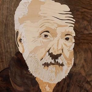 Portré fénykém alapján fa Intarzia, Portré, Portré & Karikatúra, Művészet, Famegmunkálás, Egy igazán egyedi ajándékkal szeretnél kedveskedni? Akkor megtaláltad a legmegfelelőbb ajándékot!\n\nM..., Meska