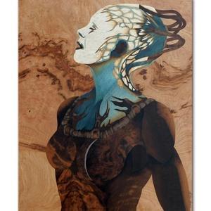Borg királynő Star trek fa intarzia kép, Más művészeti ág, Művészet, Famegmunkálás, Mérete: 58x48 cm\nEgyedi megrendelést is vállalok, bármilyen témában., Meska