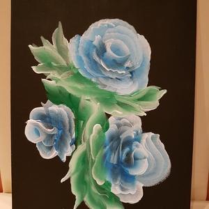 Absztrakt rózsa, Anyák napja, Ünnepi dekoráció, Dekoráció, Otthon & lakás, Képzőművészet, Festmény, Festészet, A képen látható absztrakt rózsa egy 18 x 24 cm méretű festőkartonra készült, akril festékkel. Igény ..., Meska