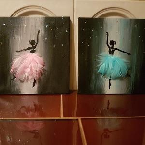 Balerinák, akril kép, Otthon & lakás, Dekoráció, Képzőművészet, Festmény, Akril, Festészet, A képen látható balerina páros kiváló dekoráció lehet egy kislány szobájába. Mindkettő 20 x 20 cm mé..., Meska