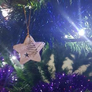 Karácsonyfadísz, csillag, Otthon & Lakás, Dekoráció, Decoupage, transzfer és szalvétatechnika, Meska