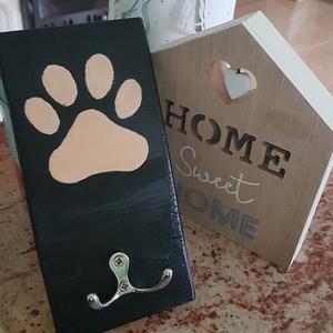 Kutya fogas, mancs 3., Otthon & Lakás, Kisállatoknak, Festett tárgyak, Mindenmás, - Hol a póráz?\n- Hát a helyén!\n- Jó, de hol a helye???\n\nEz a kis párbeszéd minden kutyatulajdonosnak..., Meska
