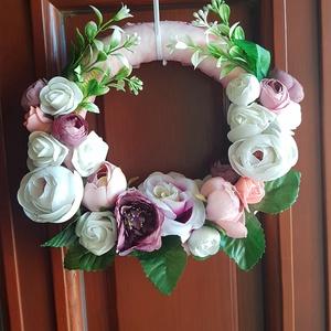 Ajtókopogtató, nyári virágos, Otthon & Lakás, Dekoráció, Ajtódísz & Kopogtató, Mindenmás, Meska