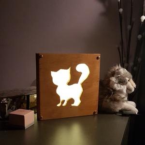 LED lámpa, cica, Otthon & Lakás, Lámpa, Famegmunkálás, Meska
