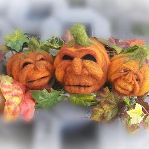 """""""Tök jó fejek"""" Halloween asztali dísz, Otthon & Lakás, Asztaldísz, Dekoráció, Mindenszentek éjszakáján kísértetek járnak Seprűn gonosz lelkek, rút boszorkák szállnak Holtak ünnep..., Meska"""