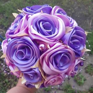 """""""Lila szenvedély""""örökcsokor, Esküvő, Menyasszonyi- és dobócsokor, Ha a.lila a kedvenc,  akkor ez a Te csokrod. A lila nem csak szín, a lila , életérzés! A csokor átmé..., Meska"""