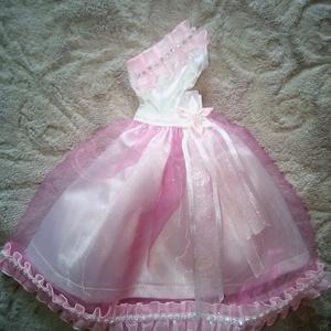 AKCIÓ!!!Barbie ruha.Barbi baba ruha,egyedi,rózsaszín ruha. (Angel13) - Meska.hu