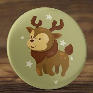 Karácsonyi kitűző - szarvas kitűző  - szarvas kitűző - őz kitűző - karácsony kitűző  - őzike kitűző - karácsony ajándék  (AngelPin) - Meska.hu