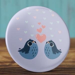 Szeretlek madár kitűző - madaras bross- valentin nap - szerelmes ajándék - szeretlek kitűző - kis madár - szív  (AngelPin) - Meska.hu
