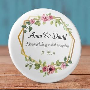 Esküvői köszönet ajándék hűtőmágnes - Esküvői köszönőajándék mágnes - vintage esküvő - virág esküvő (AngelPin) - Meska.hu