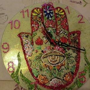 mandala óra, Otthon & Lakás, Falióra & óra, Dekoráció, névnapra,szülinapra,22 cm-es mandalaóra, Meska
