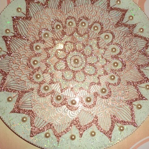 mandala, Otthon & Lakás, Mandala, Dekoráció, 25 cmes mandala,üveglapra festett,falra akasztható,nagyon szép ajándék..., Meska