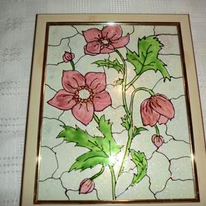 Tiffany mintás virágkép, Otthon & Lakás, Kép & Falikép, Dekoráció, A Tiffany mintás virág képemet ajánlom nappaliba ,aki szereti a természet csodáit bevinni a lakásába..., Meska