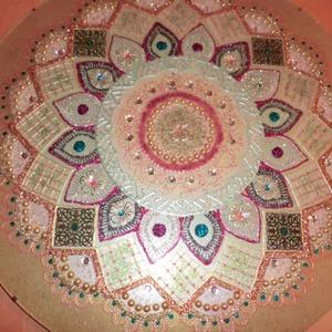 Reménység mandala, Otthon & Lakás, Mandala, Dekoráció, 50 cm-es üveglapra festett ajánlom,nászajándéknak,karácsonyi ajándéknak,akár üzletbe,névnapra,szülin..., Meska