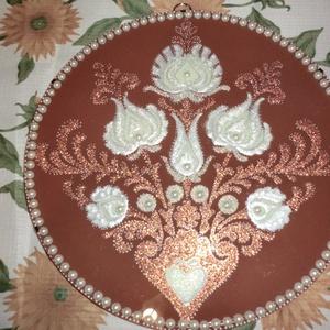 Magyaros mandala , Otthon & Lakás, Mandala, Dekoráció, 30 cm-es üveglapra festett magyaros mandala,névnapra,szülinapra ajándékba... Szerezzen örömet szeret..., Meska