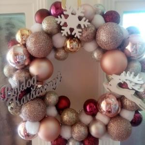Karácsonyi kopogtató , Otthon & Lakás, Dekoráció, Ajtódísz & Kopogtató, Szeretettel ajánlom karácsonyi kopogtatót , Meska