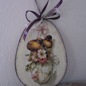 Húsvéti,tavaszi ajtódísz,húsvéti tojás ,dekoráció nagy , Otthon & Lakás, Dekoráció, Ajtódísz & Kopogtató, Decoupage, transzfer és szalvétatechnika, húsvéti,tavaszi ajtódísz,fali dísz.Húsvéti dekoráció.\n\n15.5x11.5cm\n\najánlott levélként megy...., Meska