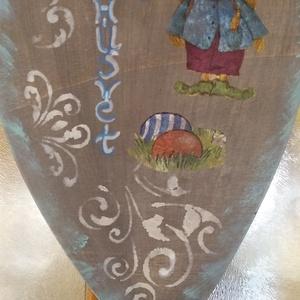 ajtó tábla, Otthon & Lakás, Dekoráció, Baba-és bábkészítés, a tábla ujrahasznosított termék. hulladék rétegelt lemezből készült,festéssel, és mintázással. méret..., Meska