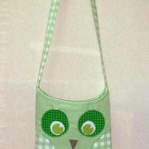 -20% AKCIÓ Bagoly, baglyos táska - világos zöld (angyalifeny) - Meska.hu