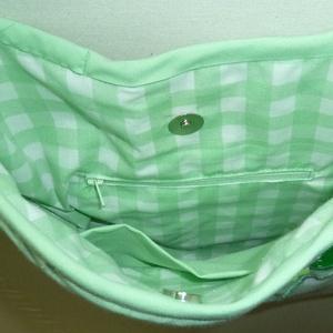 -20% AKCIÓ Bagoly, baglyos táska - világos zöld (byKuczora) - Meska.hu
