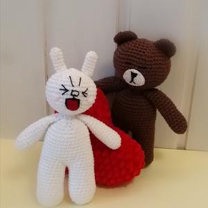 Cony és Brown , Játék & Gyerek, Plüssállat & Játékfigura, A szerelem mindent visz. Cony és Brown két bájos kis figura. Lepd meg velük szerelmedet, garantált l..., Meska