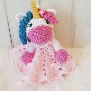 Unikornis Szundipajti , Játék & Gyerek, Plüssállat & Játékfigura, Unikornis, Ez a kedves Unikornis lány színes hajkoronával, elegáns ruhában nagyon bájos ajándék lehet. Minden k..., Meska