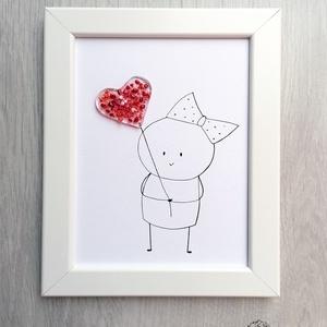 """Üvegbe zárt szeretet - Szív, Otthon & Lakás, Lakberendezés, A legszebb ajándék: egy mosoly. Egy ölelés. Vagy még az sem - csak egy gondolat: """"Szeretlek"""". Müller..., Meska"""