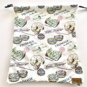 Sajt mintás-  Frissentaró kenyeres zsák, , Otthon & Lakás, Konyhafelszerelés, Kenyértartó, Varrás, A zsák külső rétege pamutvászon, belső rétege pul anyagból készült, így könnyen tisztítható.\nMérete:..., Meska