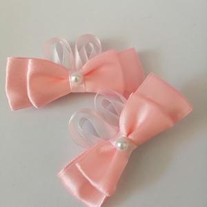 Rózsaszín masnis hajcsat. Kanzashi, Táska, Divat & Szépség, Varrás, Krokodil hajcsat kislányoknak! Szép rózsaszín szalagból kézzel készült hajcsat 2 db vagyis egy pár. ..., Meska