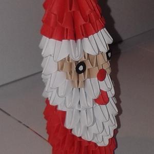 Mikulás, Mikulás, Karácsony & Mikulás, Otthon & Lakás, Papírművészet, 3d origami technikával ( több száz pici papírelem egymásba építése általában ragasztás nélkül) készí..., Meska