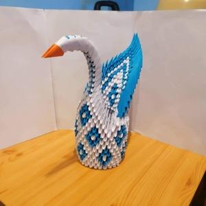 Hattyú Óriás, Otthon & lakás, Dekoráció, Dísz, Papírművészet, 3d origami technikával ( több száz papírelem egymásba építése általában ragasztás nélkül) készített ..., Meska
