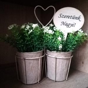 2 db személyre szóló virágkísérő tábla  (AniDekor) - Meska.hu
