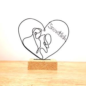 Szeretlek - drótból készült lakásdekoráció - Szerelmes ajándék ötlet évfordulóra, Otthon & Lakás, Dekoráció, Dísztárgy, Mindenmás,  Ezzel a dísszel könnyedén kifejezheted szerelmed és rajongásod párod, férjed, feleséged, barátnőd i..., Meska