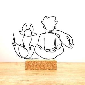 A kis herceg és a róka - Örök barátság -drótból készített kézműves dekoráció -ajándék ötlet gyerekeknek és felnőtteknek, Otthon & Lakás, Lakberendezés, Mindenmás, Ez az alkotásom a róka és a kis herceg varázslatos barátságát ábrázolja. \nMérete: 25x21 cm\nAnyaga: 2..., Meska