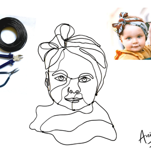 1 fő drótból készített portréja fotó alapján - különleges ajándék ötlet - egyedi fali dekoráció - maradandó emlék, Művészet, Portré & Karikatúra, Portré, Fémmegmunkálás, Ha van egy kedvenc fotód, amit szívesen kitennél a faladra vagy ajándékba adnád valakinek, de nem a ..., Meska