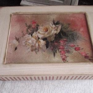 Romantikus, rózsás ékszertartó doboz - ékszer - ékszertartó - ékszerdoboz - Meska.hu