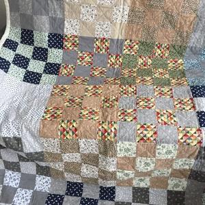 Patchwork vintage takaró, Ágytakaró, Lakástextil, Otthon & Lakás, Varrás, Patchwork, foltvarrás, A termék a képen láthatóhoz képest több részletben is eltérhet. 240 x 160 cm méretű  Patchwork vinta..., Meska