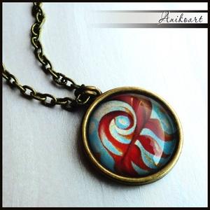 Saját akvarell mintás nyaklánc (anikoart) - Meska.hu