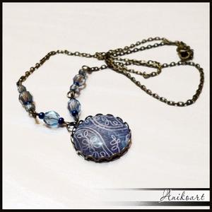 Kék fátyol  nyaklánc (anikoart) - Meska.hu