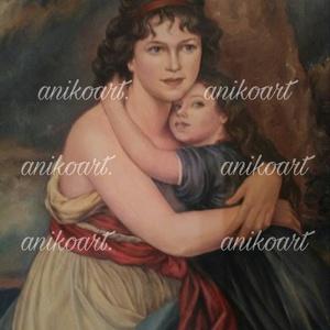 Olajfestmény-anya gyermekével (anikoart) - Meska.hu
